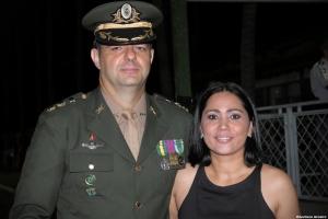 Casal amigo Janice Oliveira Primo e Cel Marcelo Zanon Harnisch