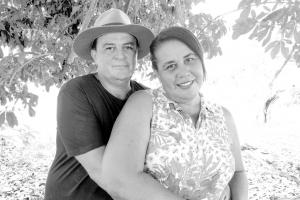Antônio Carlos Vicentine e sua esposa Maria Conceição
