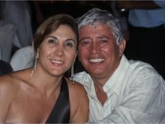 José Fleury Filho com sua esposa Queza