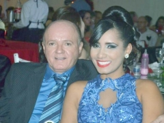Andrea Barbosa e seu esposo, empresário Antônio Barreto (LARES).