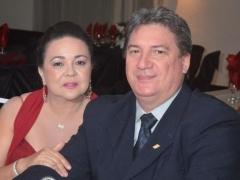 Professora Maria Lucilene e seu esposo, empresário João Manoel Gehn (Gráfica Multicor)