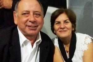 Geraldo da Rosa Galvão e sua esposa Gisele Balaiardi