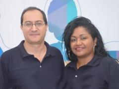 Élio Vilmar Prestes (Viação Xavante) e professora Rosimeire