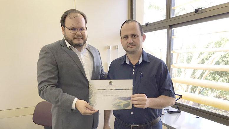 TRE diploma Sandro Saggin como suplente de deputado federal