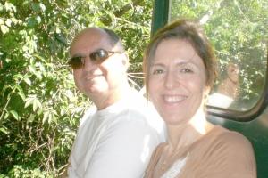 Silvia Homsi e empresário João Luiz Donzeline Júnior