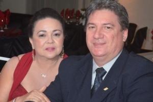 empresário João Manoel Gehn e sua esposa, Professora Maria Lucilene Gehn