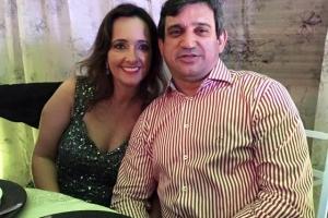 Celso Aparecido Paulino de Aguiar e sua esposa Lília Brandão