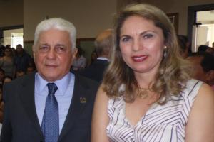 Prefeito de Aragarças, José Elias Fernandes e primeira dama, Mara Ney