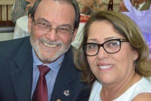 Dr. José Luiz Lauro e sua esposa Du Carmo