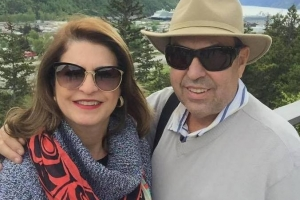 Empresário José Lúcio Vieira Dias e sua esposa Rachel Magalhães Dias
