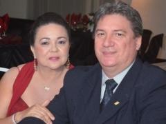 Professora Maria Lucilene e eeu esposo, empresário João Manoel Gehn (Gráfica Multicor)