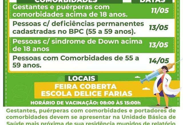 Barra do Garças inicia nova fase de vacinação contra a Covid-19