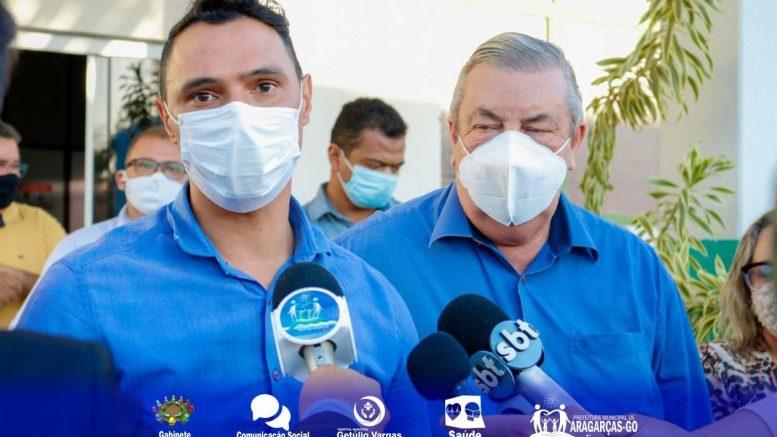 Deputado Federal José Mário esteve em  Aragarças e entrega cheque simbólico de emenda parlamentar impositiva para a saúde