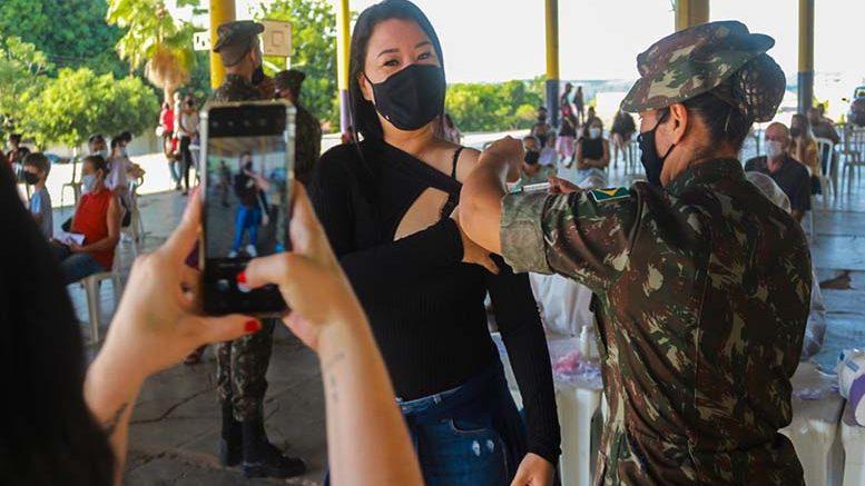 58º Batalhão de Infantaria Motorizado realiza apoio a Vacinação contra a Covid-19 no munícipio de Barra do Garças-MT