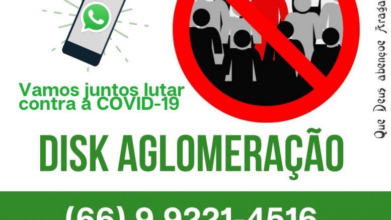 A Prefeitura Municipal de Aragarças divulga o DISK AGLOMERAÇÃO