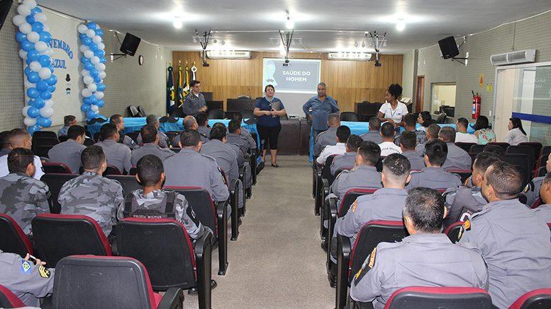 NOVEMBRO AZUL – Policiais participam de palestra sobre a prevenção do câncer de próstata