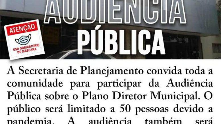 Secretaria de Planejamento realiza Audiência Pública para debater Plano Diretor Municipal